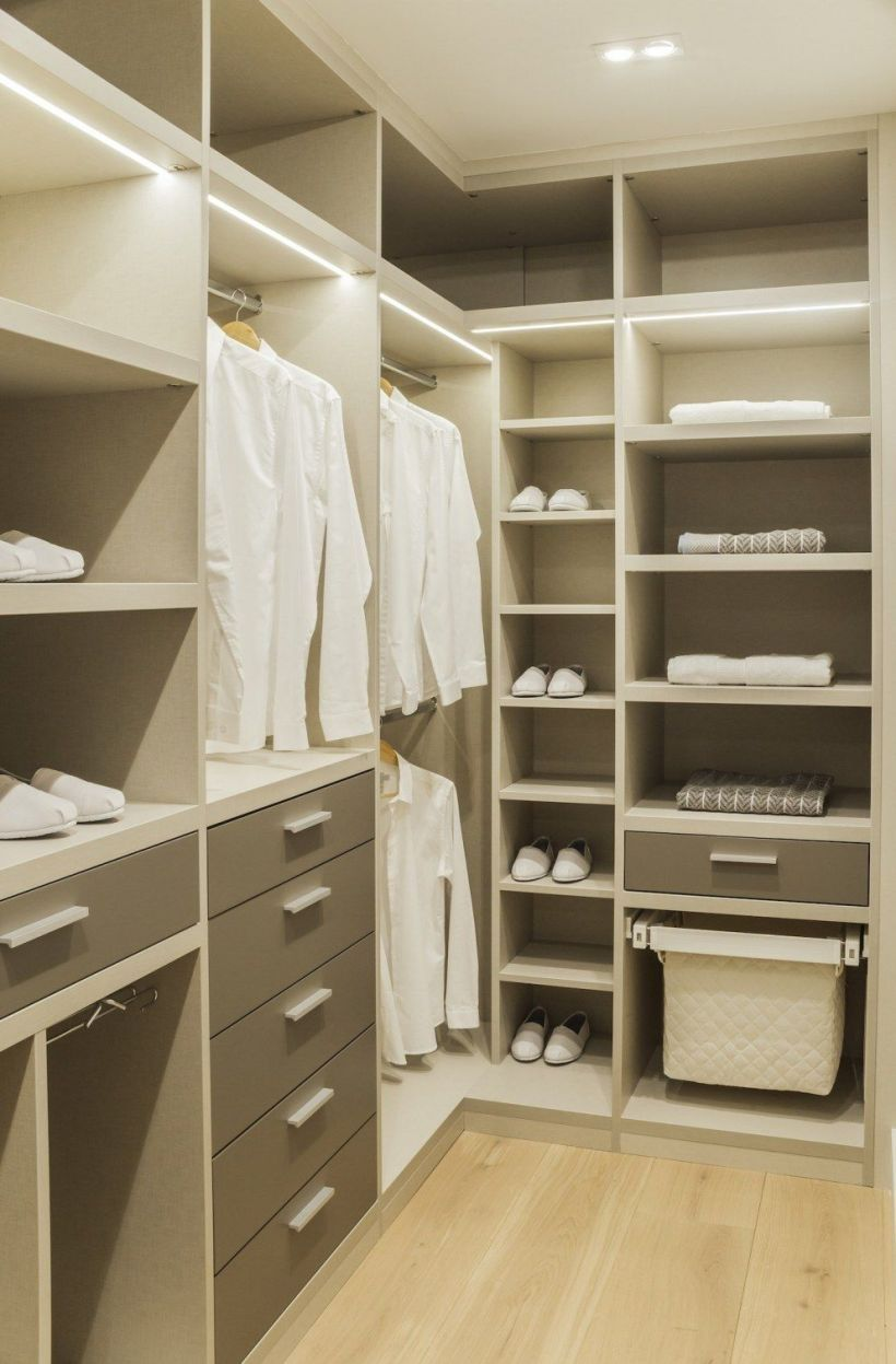 L shaped modular wardrobe is fixed at the corner of the wall to get a good and well manner look, all the things are arrange in a good manner and not get any problem to put cloths here and there. L Shaped Wardrobe Catalog - Designs - Images.